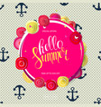 summer sale main label with percent stickers vector image