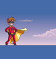 super boy sky background vector image vector image