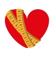tape measure healthy lifestyle icon vector image vector image