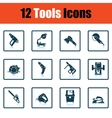 Tools icon set vector image vector image