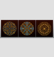 vintage luxury decorative design of golden mandala vector image