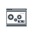 website optimization glyph icon vector image vector image