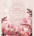 wedding invitation vintage flowers vector image