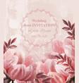 wedding invitation vintage flowers vector image vector image