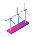 wind turbine plant icon isometric style vector image