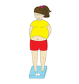 woman fat vector image