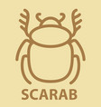 scarab icon in linear style vector image