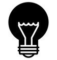 Light bulb black icon vector image