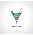 Cocktail flat color icon vector image
