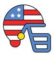 american football helmet united state vector image vector image