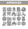 approved collection elements icons set vector image vector image