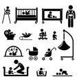 baby child newborn toddler kid equipment stick vector image
