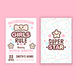 baby shower party invitation vector image vector image