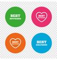 best boyfriend and girlfriend icons vector image