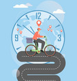 bike food delivery service poster template vector image