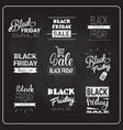 black friday flyers set holiday sale label vector image