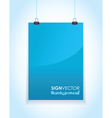 blue paper sign vector image vector image