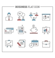 Business and finance analytics icons vector image vector image