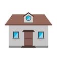 cartoon front view home window loft vector image vector image