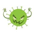 Cartoon viruses characters set vector image
