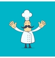 chef in various poses vector image vector image
