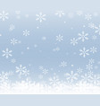 christmas snow frame isolated on blue background vector image