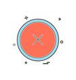 close icon design vector image vector image