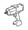 cordless drill icon doodle hand drawn or outline vector image