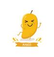 cute mango character vector image vector image