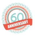 Cute Template 60 Years Anniversary with Balloons vector image vector image