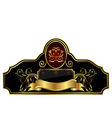 decorative gold frame label vector image vector image