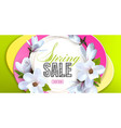 desing advertising poster is a spring sale with vector image vector image
