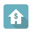 Dollar house icon square vector image