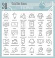 e-learning thin line icon set education symbols vector image
