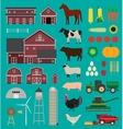 Farm infographic set vector image