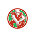 Football Player Snap Circle Retro vector image vector image