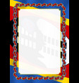frame and border of ribbon with swaziland flag vector image vector image