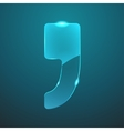 glass comma icon vector image vector image