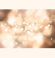 gold christmas background with bokeh lights vector image vector image