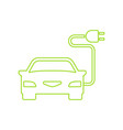 green electric car charging point icon vector image