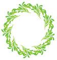 Green round ornamental framefloral frame vector image