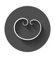 hand drawn scribble circle element with long vector image vector image