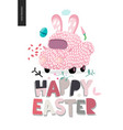 happy easter and bunny car vector image