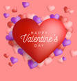 happy valentine day greeting banner vector image