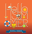 Hello Summer Typography vector image vector image