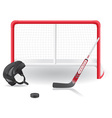 hockey set vector image vector image