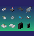 isometric gaming items vector image vector image