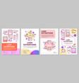 lash extension brochure template layout false vector image vector image