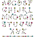 Latin alphabet flowers vector | Price: 1 Credit (USD $1)