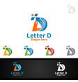 letter d for digital logo marketing financial vector image vector image